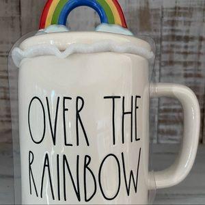 Rae Dunn Over The Rainbow mug and topper NEW